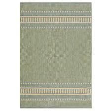 pueblo design green natural 5 ft x 8 ft area rug