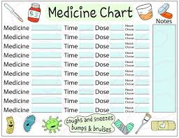 Medicine Tracker Sheet Cute Keep The Fun Medicine Chart