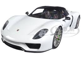 918 spyder white. brand new 118 scale model car of porsche 918 spyder weissach package glossy white by autoart n