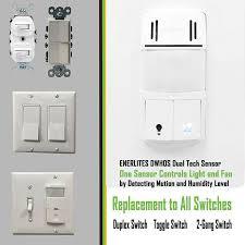 sensing bathroom fan quiet: enerlites dwhos w humidity motion sensor switch for bathroom fan amp light dual