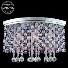 modern crystal chandelier 100 swarovski strass crystal prisms 3 led lights
