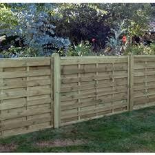 horizontal wood fence panels. KDM Horizontal Fence Panel Square Top - 1.2m H X 1.8m W Green Wood Panels E