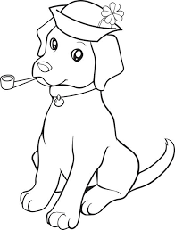 Small Picture Free Printable St Patricks Day Puppy Dog Coloring Page for Kids