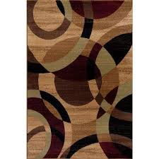 contemporary modern circles abstract multi 3 ft x 5 ft indoor area rug contemporary