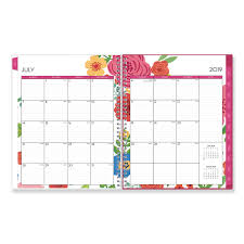 Monthly And Weekly Planners Mahalo Academic Year Cyo Weekly Monthly Planner 11 X 8 1 2 Tropical Floral 2019 2020