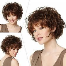 fashion women lady short curly wig