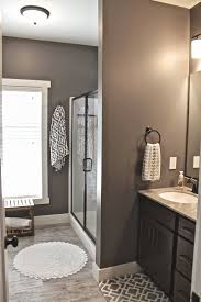 Master Bath Wall Art { -- Faux wood ceramic tile. Walls: Mink,