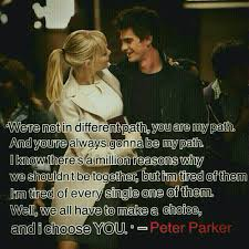 Spiderman Love Quotes Fascinating Peter Parker Shared By Ephine On We Heart It