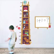 Us 6 69 33 Off Cartoon Book Shelf Height Measure Wall Sticker For Kids Room Growth Chart Children Diy Mural Nursery Home Decals Wallpaper New In
