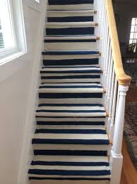 Handsome Cream Blue Stripe Carpet Rug Runner Serged With Color Matching  Yarn Professionally Finished And Bound Modern Design With Border On Two  Sides ...