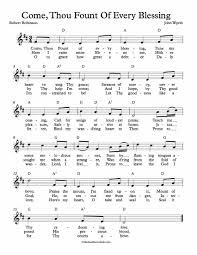 Come Thou Fount Chord Chart Free Lead Sheet Come Thou Fount Of Every Blessing