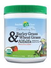 The <b>Amazing Trio</b>: <b>Barley Grass</b>, Wheat Grass & Alfalfa