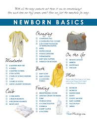 Newborn Basics Registry Checklist House Mix