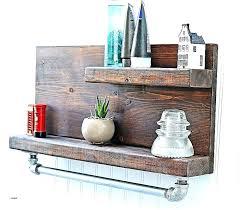 wooden towel shelf wooden towel shelf bathroom wall shelves wood mounted beautiful rustic pipe with bar
