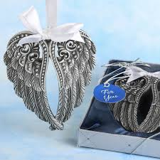 silver angel wings hanging ornament favors