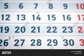 Business Calendar Page Image Photo Free Trial Bigstock