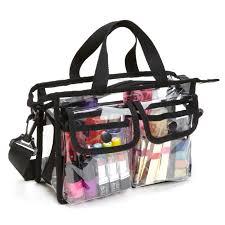 professional pvc makeup artist set bag w shoulder strap