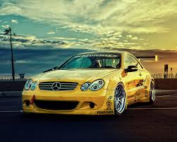 Yellow 2005 Mercedes CLK55 AMG Pops While on Display in NitroFill ...