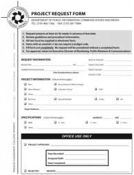Public Information, Communications And Media Project Request Form ...