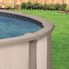 the aqua leader trinity above ground swimming pool was designed with three key ings in mind durability low maintenance and family fun