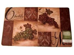 grapes grape themed kitchen rug: decorate your tuscan themed kitchen with this gorgeous wine and grapes themed kitchen comfort mat