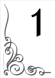 94c8d2eeabd3d2c846ca8058b3b72c4c free 'flourish' printable diy table numbers for your wedding on free printable wedding seating chart