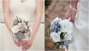 Paper Flower Bouquet Tutorial Diy Wedding Bouquet Paper Bridal Flower Tutorial