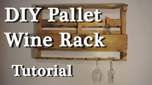 Pallet wine rack DIY tutorial YouTube