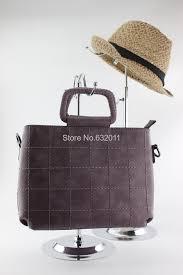 10pcs metal heavy bottom mirror silvery metal bag holder hook desktop shelf showing stand bag wig display