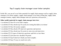 top 5 supply chain manager cover letter samples in this file you can ref cover supply chain manager cover letter