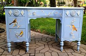 painted office furniture. Bird-desk-21 Painted Office Furniture I