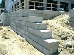concrete retaining wall design example classy design ideas concrete retaining
