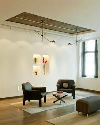 Decorations:Modern Track Lighting Living Room Ideas Combined With  Comfortable White Sofa On Laminate Floor