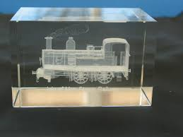 isle of man steam train crystal block