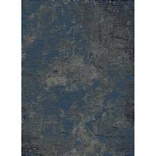blue and gray area rug andover mills anzell