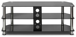 silk black screen glass tv stand