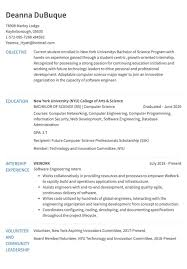 Example Computer Science 0 Years Of Exp Get Hired Easier