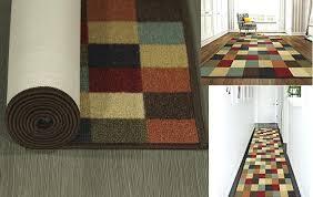 incredible non slip runner rug f25805 checd non skid runner rug runner rug slip