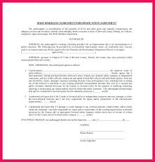 Hold Harmless Agreement Sample Sop Examples Real Estate Template ...