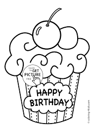 Small Picture Birthday Color Page Happy Birthday Cake 2 Online Coloring Page
