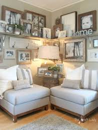 living room ideas showing furniture. Wood Framed Family Photo Display Corner Living Room Ideas Showing Furniture