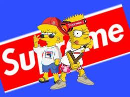 bart simpson y lisa simpson supreme