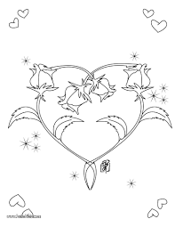 Small Picture Roses heart shape coloring pages Hellokidscom