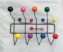 Golf Ball Coat Rack Best Modern Design Black Steel Wire Multi Color Wooden Ball Hanger Rack