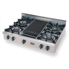 gas range with griddle top. Brilliant With FiveStar 36 Inch Natural Gas 4 Burner Cooktop With Griddle  Stainless Steel In Range Top A