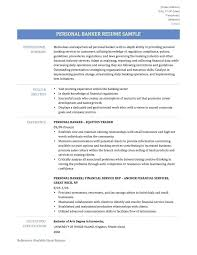 sample personal banker resume download personal banker resume resume samples  2017 word