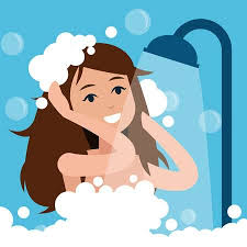 take a shower clipart. Perfect Take Woman Takes A Shower Illustration On Take A Shower Clipart T