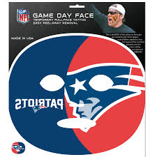 new england patriots set of 4 game day faces no better way to show your