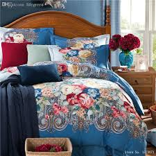 whole 2016 newest oriental bedding sets royal blue bedding 100 sanding duvet covers home textile china comforters for beds king size duvet
