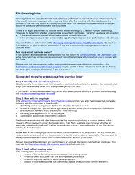 letter of final warning australian